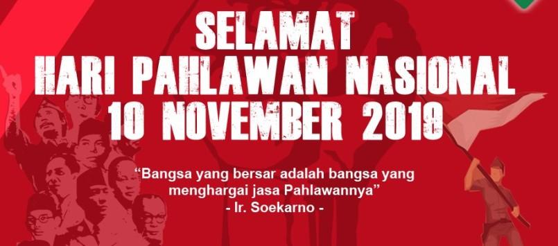 Selamat Hari Pahlawan 10 November 2019