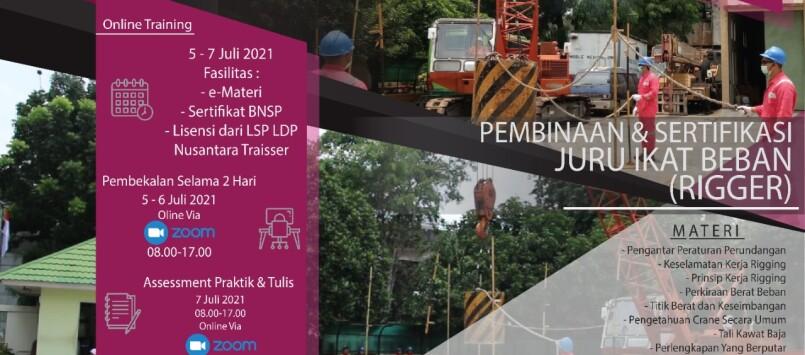 Pembinaan & Sertifikasi Rigger BNSP ( Juru Ikat Beban )