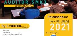 Pelatihan Auditor SMK3 Sertifikasi KEMNAKER RI Juni 2021 Online Training
