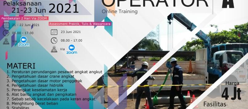 Pelatihan Mobile Crane Operator Kelas A Juni 2021 Online Training