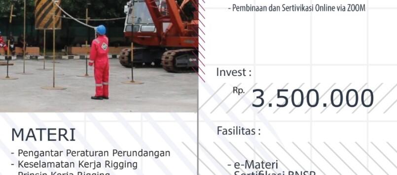 Pembinaan & Sertifikasi Rigger BNSP 14 – 16 Juli 2021