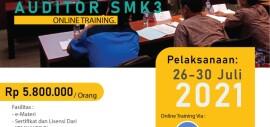 Pembinaan & Sertifikasi Auditor SMK3 Juli 2021